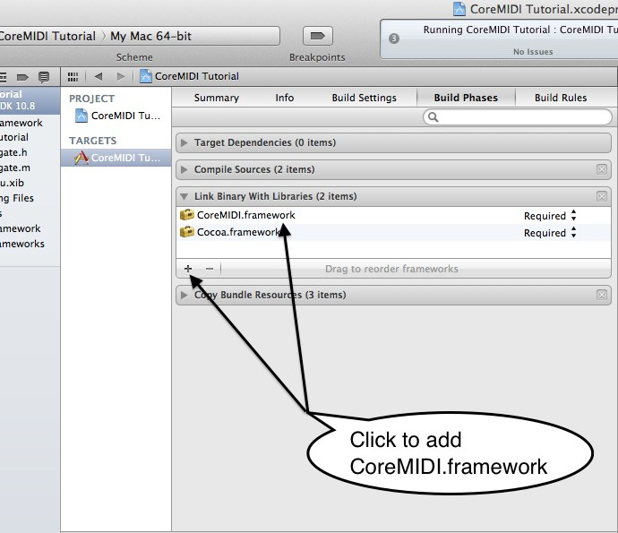 Add CoreMIDI.framework