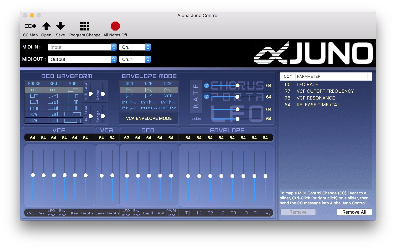 Alpha Juno Control Release v1.1